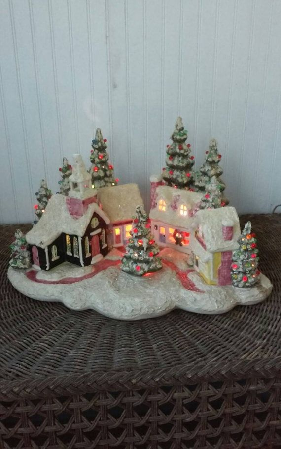 vintage ceramic christmas village