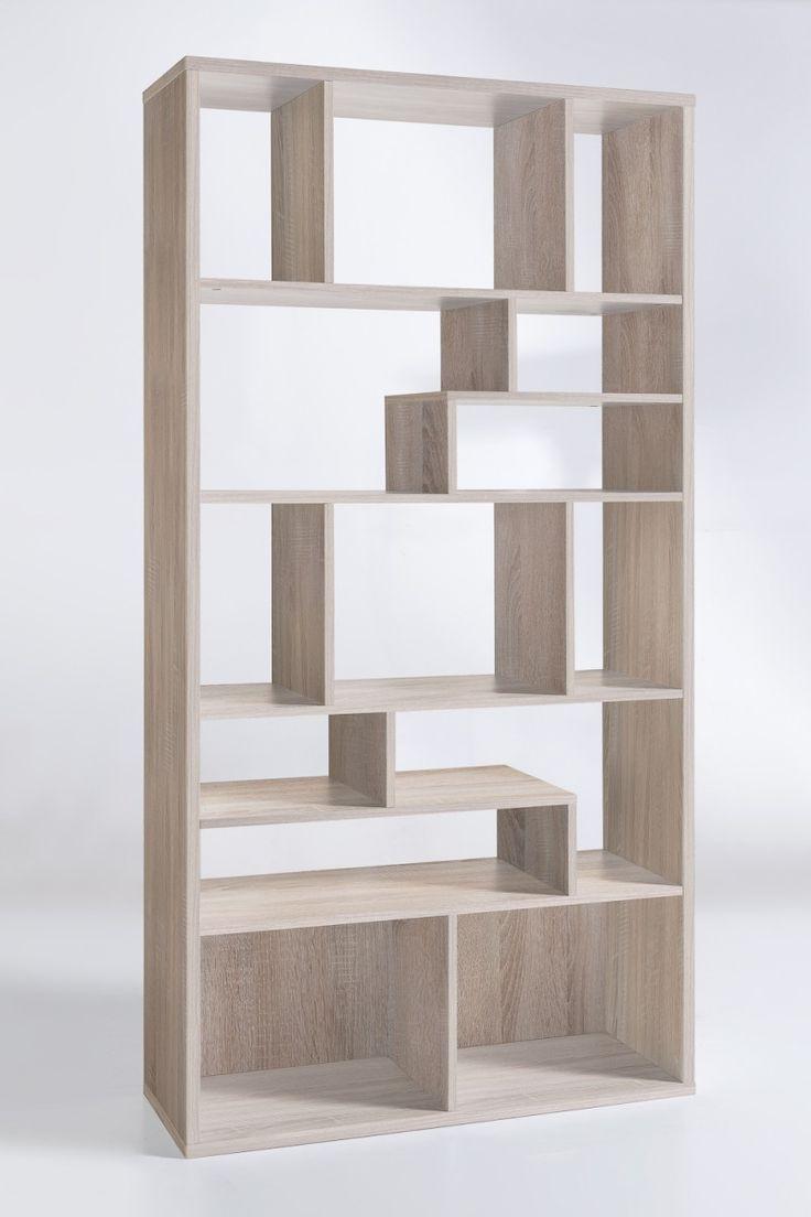 """Design Regal """"Lissabon"""" – in Weiß, Eiche Sägerau oder Eiche Sägerau / Weiß"""