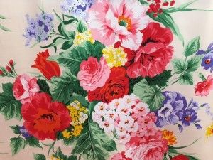 Tessuto cotone mix flower