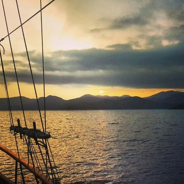 Every day beautiful sunset on the gulet Gunay 1 sailing Gocek...