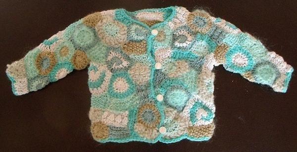 Babyjacket made in freeform