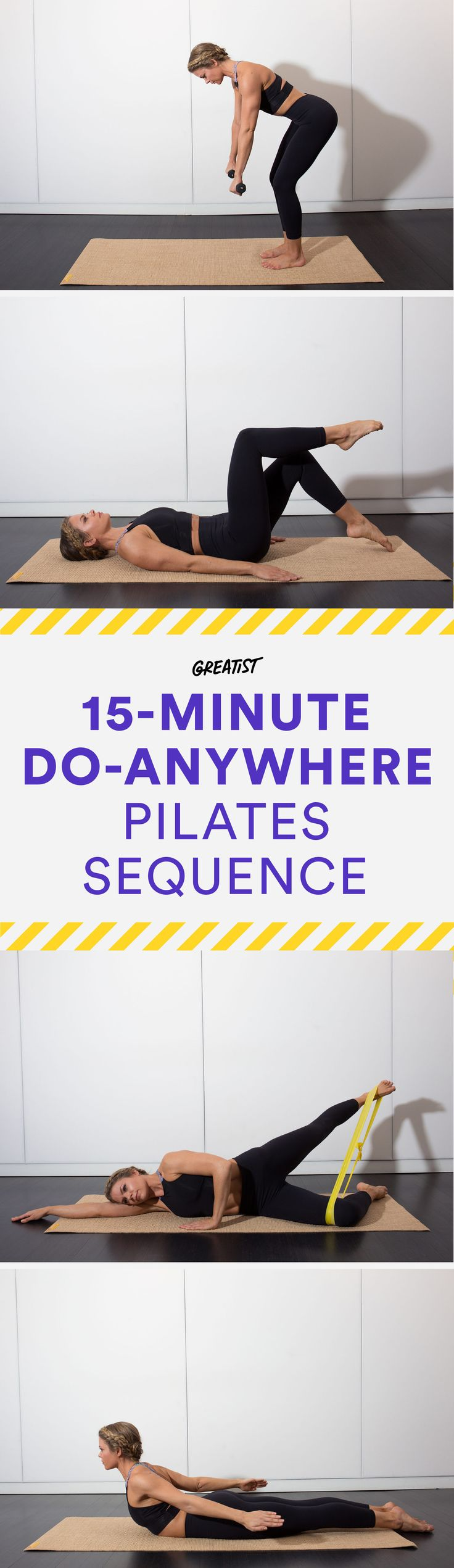 Let's be real: Nobody has room for a reformer.  #pilates #workout #fitness http://greatist.com/move/pilates-best-exercises-to-do-without-reformer