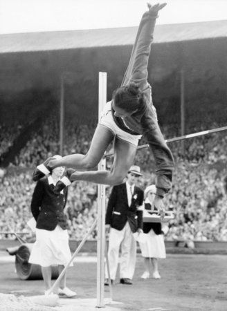 1948 high jump champ - oh, how technique has improved.