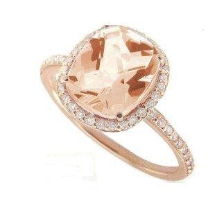 rose gold, rose stone14K Rose, Cushions Cut, Morganite Center, Rosegold, Pink Morganite, Right Hand Rings, Engagement Rings, Cushion Cut, Rose Gold