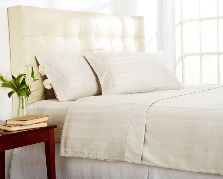 fallcrest 400 thread count 100 cotton variegated stripe luxury sheet set