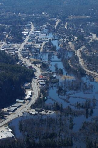 Flooding in Bancroft, Ontario. April 22nd/2013.
