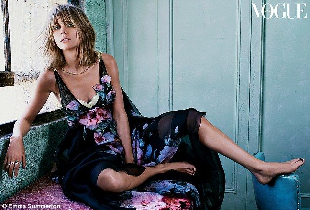 Stylish: Taylor Swift proves she's the ultimate fashionista while posing for the latest issue of Vogue Australia