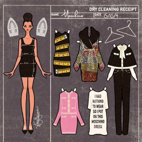 Minjee Kang Moschino Pre Fall 2015 Paper Doll Fashion