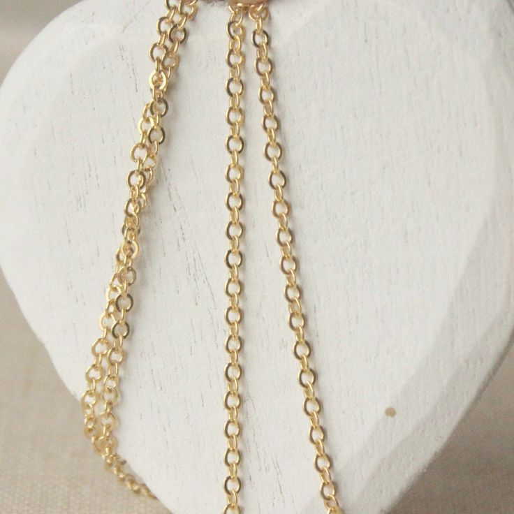 Thin Gold chain necklace 14 - 45 inch 16K SMALL gold chain 2mm oval links yellow gold plated chain flat link necklace DAINTY chain gold SF66 by acanthusjd on Etsy https://www.etsy.com/listing/203350619/thin-gold-chain-necklace-14-45-inch-16k