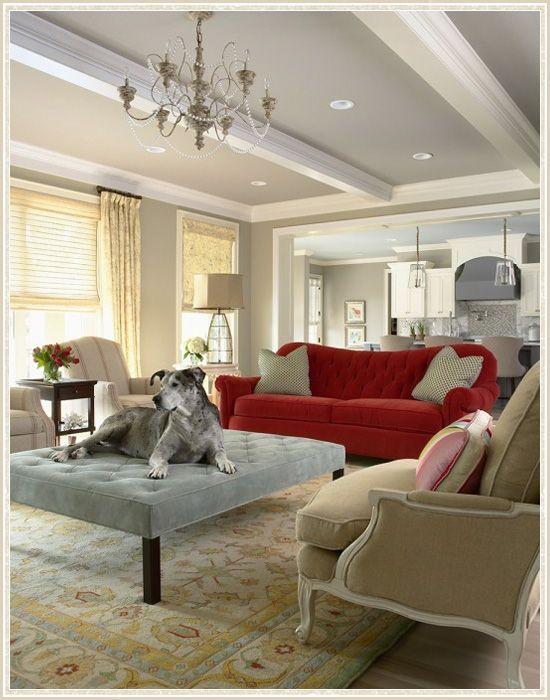 Martha O'Hara InteriorsWall Colors, Ideas, Ceilings Beams, Living Rooms, Contemporary Living Room, Livingroom, Interiors Design, Benjamin Moore, Painting Ceilings