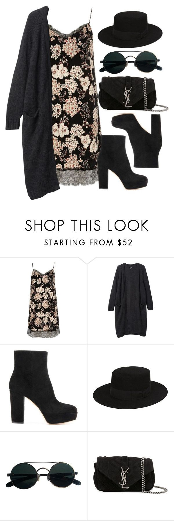"""""""Style #11314"""" by vany-alvarado ❤ liked on Polyvore featuring River Island, Monki, Gianvito Rossi and Yves Saint Laurent"""