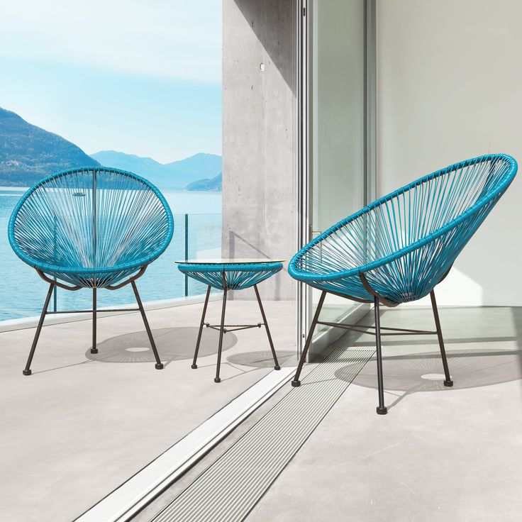 Sarcelles Modern Wicker Patio Chairs By Corvus (Set Of 2) (Peacock),