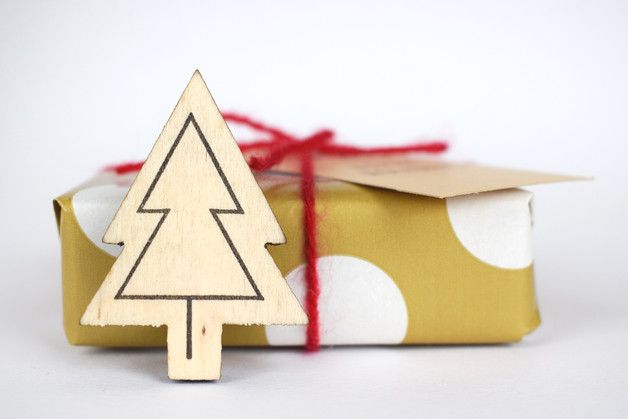Christmas Stamps – Christmas tree stamp, mini stamp – a unique product by StudioMaas on DaWanda