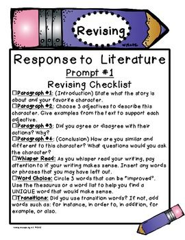response to literature writing prompts Write your response to the writing prompt below write an essay in which you analyze the interactions of the narrator and the bird, and  kid friendly response to literature writing rubric for grade 2 descriptors 4 3 2 1 content i wrote a well developed response to a text using relevant.