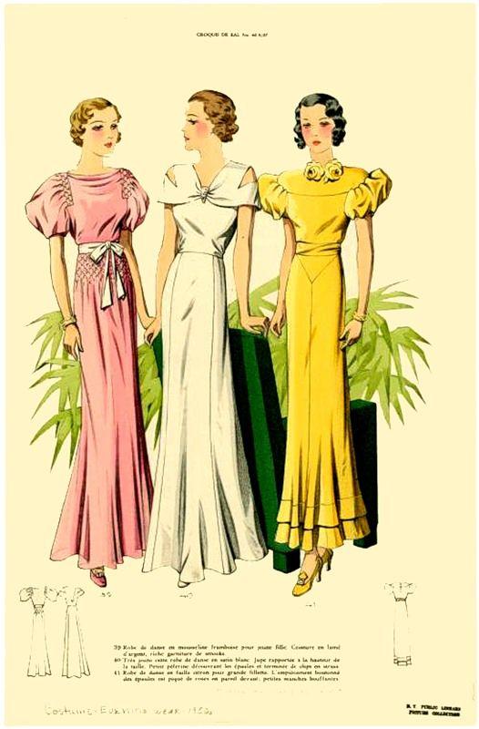 Старинные, винтажные, ретро журналы - E Paris, 1930-е