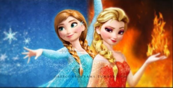 Frozen anna and elsa with different powers disney frozen elsa elsa frozen disney - Princesse anna et elsa ...