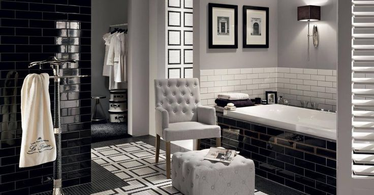 Black&white is always a good choice ⚫️⚪️ Tubadzin Monte Carlo