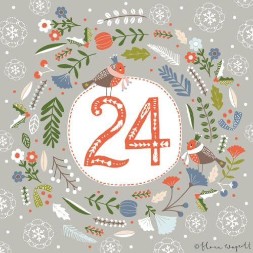 Flora Waycott Christmas Advent 2014 DAY 24 - Happy Christmas Eve! xxx