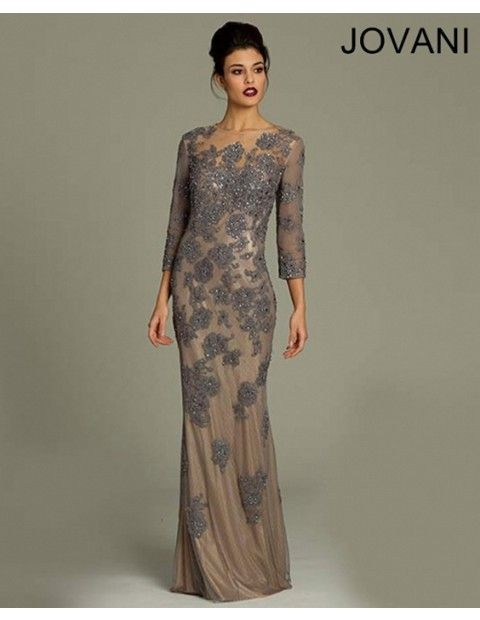 jovani-730021-evening-dress-jewel-neckline-quarter-sleeves-illusion-back-fit-and-flare