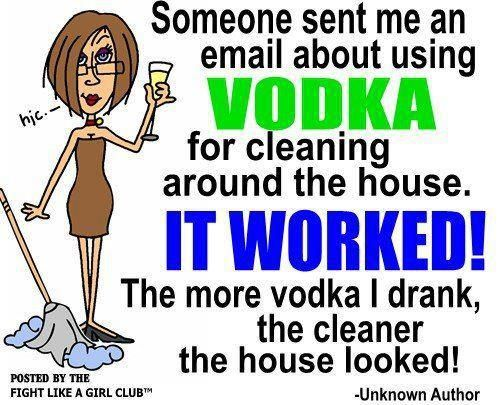 Using vodka for cleaning