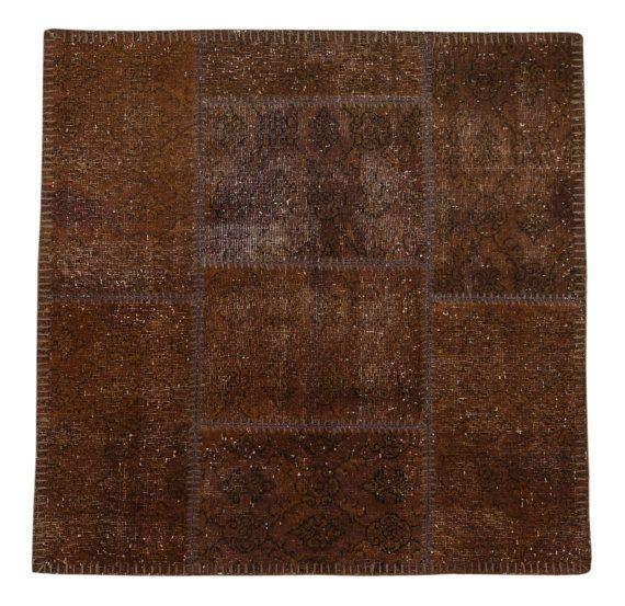 White plush shag rug