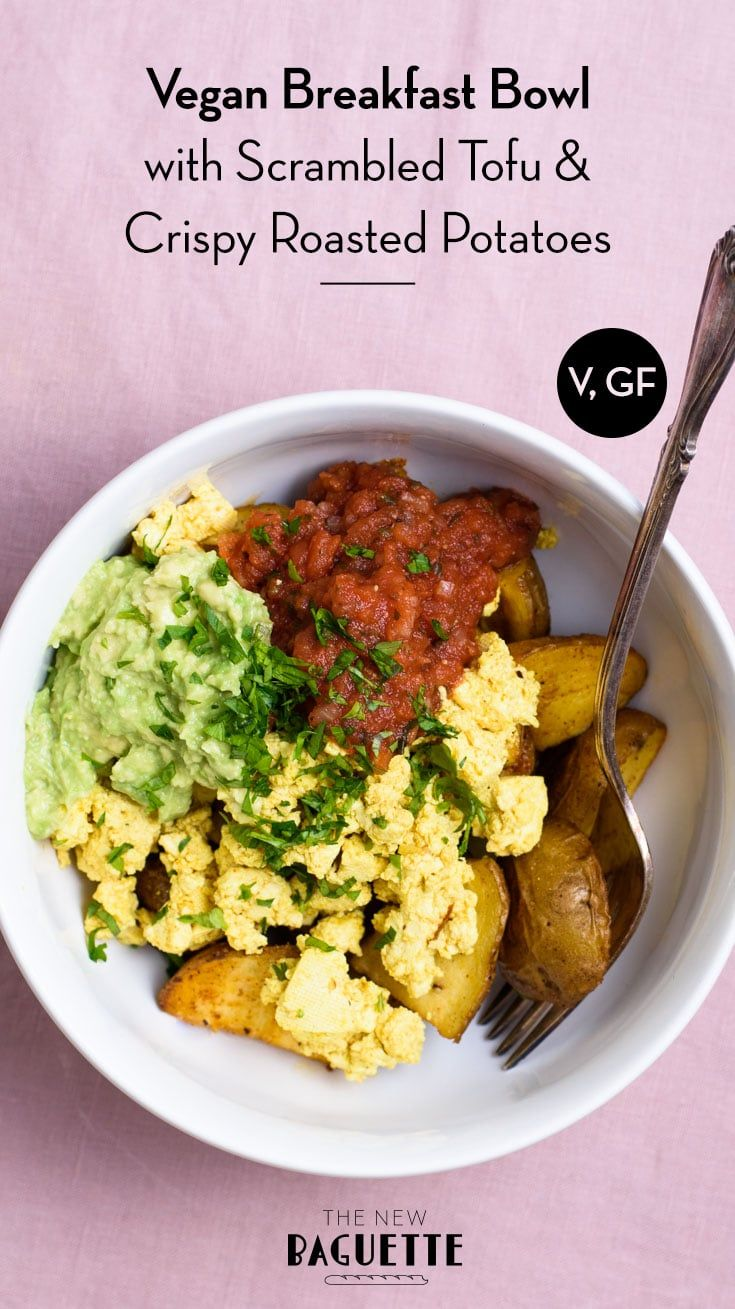 Vegan Breakfast Bowl With Scrambled Tofu And Crispy Potatoes Recipe Breakfast Bowls Savory Vegan Healthy Vegan Breakfast
