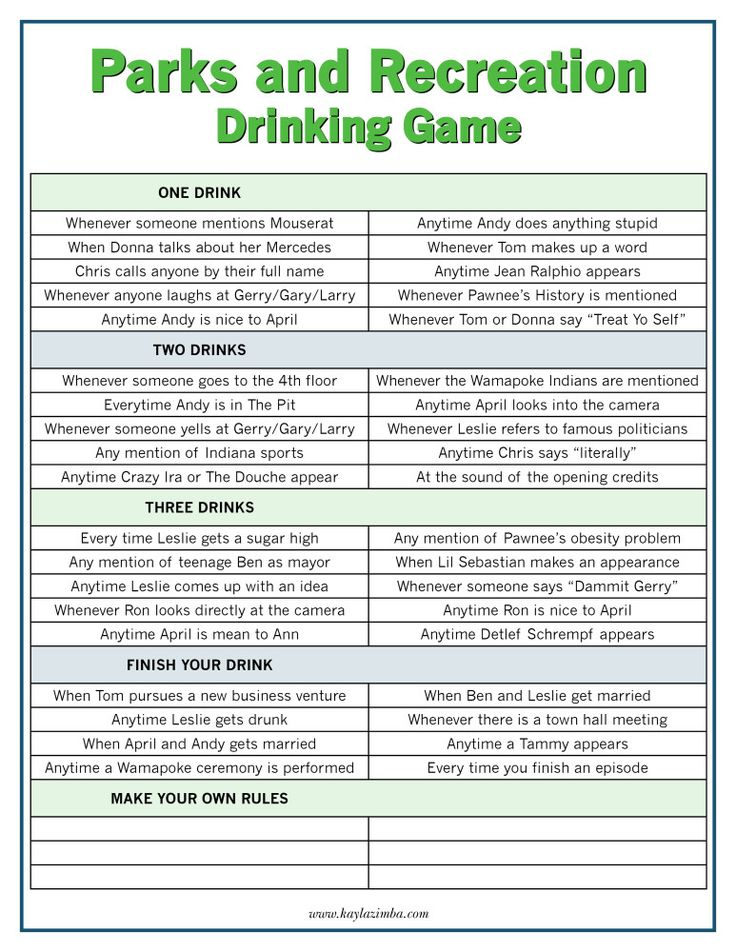Parks-and-Rec-netflix drinking games