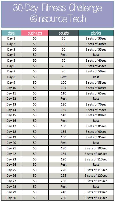 30-day fitness challenge