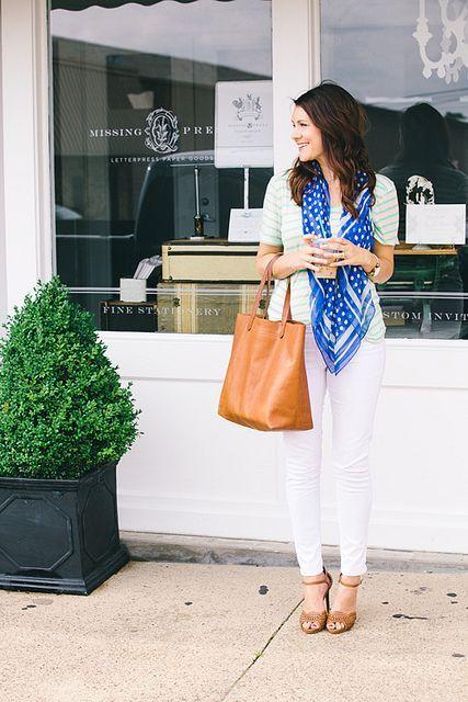 White, stripes and scarfs