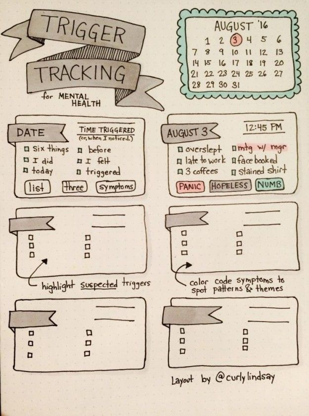 This chart that will help you learn when and how you get triggered: | 21 Genius Ways To Track Your Mental Health - BuzzFeed News