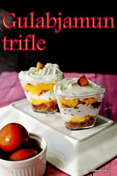 Trifle recipe at its best, made up of the famous Indian sweet gulab jamun. The gulab jamun trifle is the best trifle I have ever made up and takes no time.