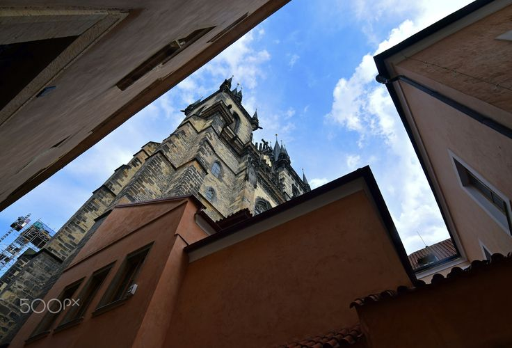 Church of Our Lady before Týn - Taken via Týnská Alley, in the heart of Prague's Old Town.