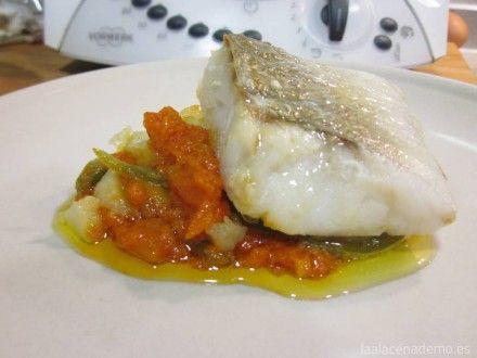 Bacalao con tomate y patatas panadera Thermomix