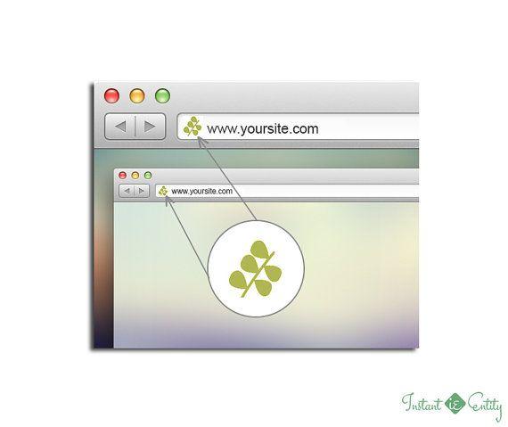 Premade Favicon Design | Website Favicon | WordPress Favicon | Wix Favicon | Branding | Leaves