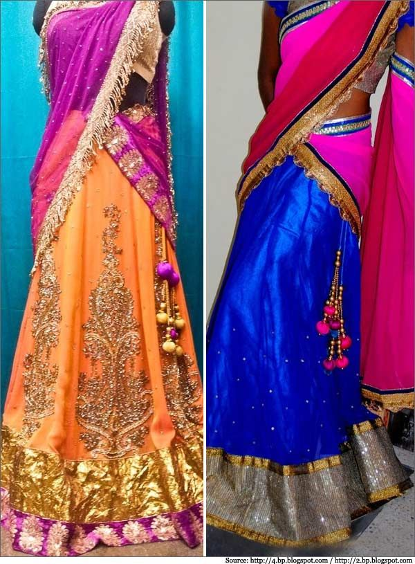 Designer Half Sarees | Half Saree Designs | Half Saree Collections