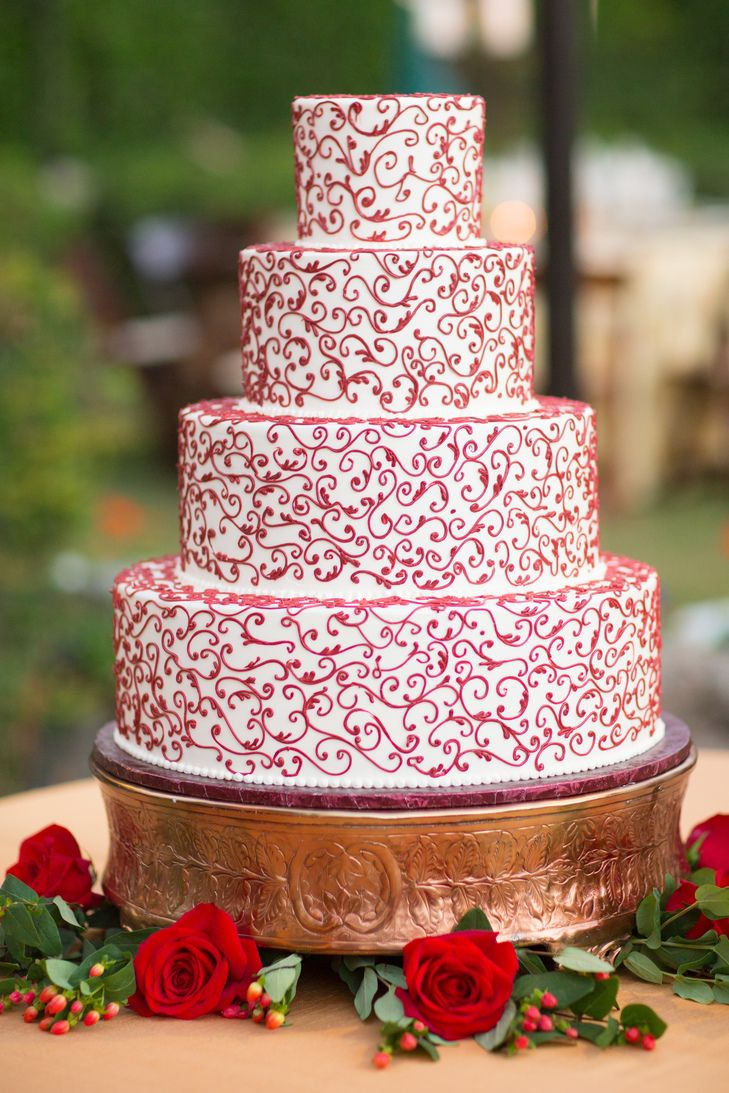 Classic Red and White Wedding Cake | Exquisite Desserts https://www.theknot.com/marketplace/exquisite-desserts-palm-desert-ca-386475 | Classic Party Rentals https://www.theknot.com/marketplace/classic-party-rentals-san-diego-ca-663641 | Timeless Celebrations by Peggy Kelley https://www.theknot.com/marketplace/timeless-celebrations-by-peggy-kelley-pasadena-ca-396419 | Allison Maginn Photography https://www.theknot.com/marketplace/allison-maginn-los-angeles-ca-447123 |