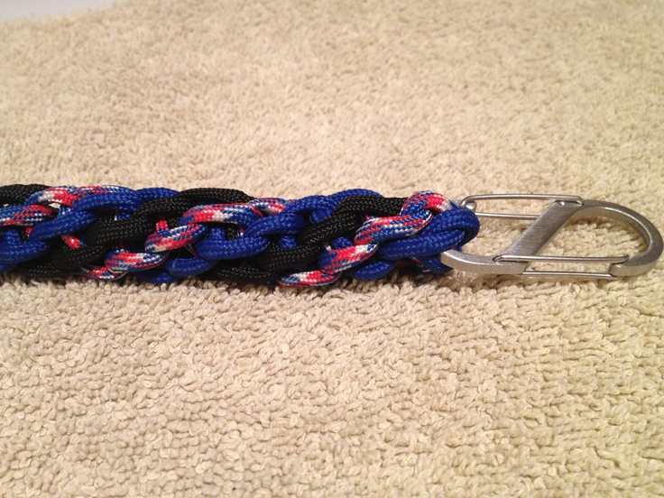 Paracord key fob using a triple twisted cobra braid I came up with a couple years ago.