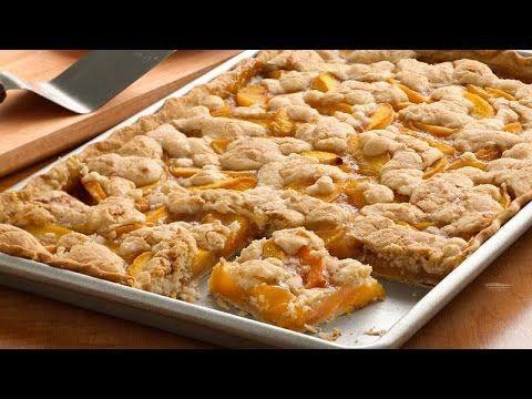 Peach Slab Pie Recipe - Pillsbury.com