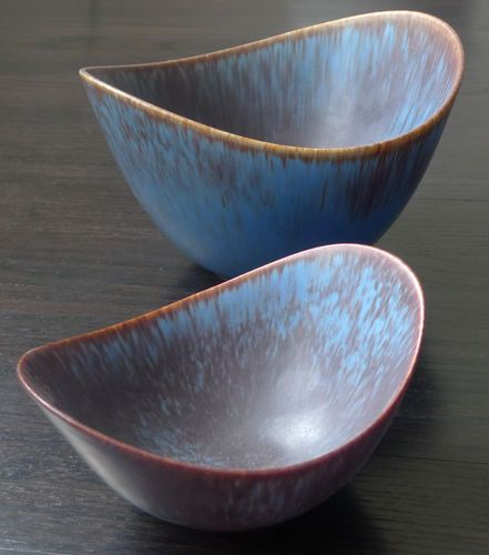 Gunnar Nylund for Rorstrand Sweden Large Nested Bowls.  Nice shape