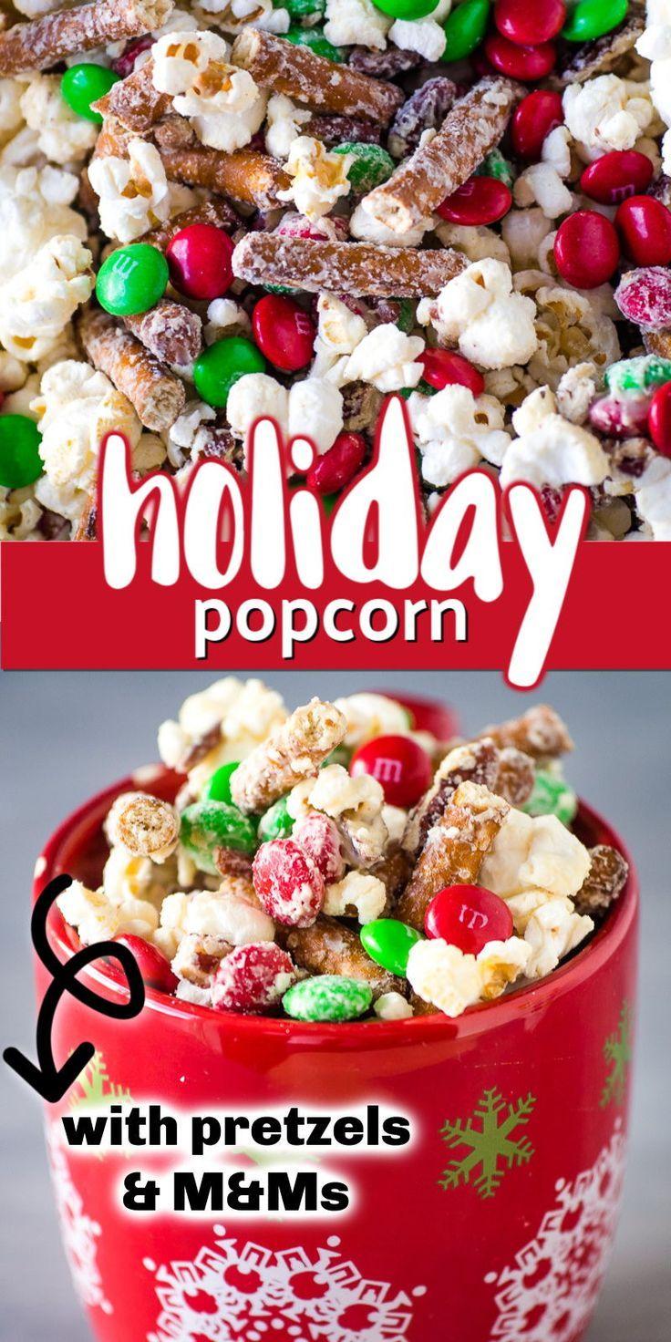 Dieses einfache Popcorn-Rezept mit weißer Schokolade ist einfach und doch köstlich! Popcorn, Brez …
