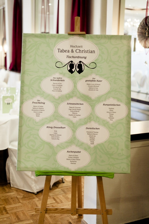 Custom designed seating chart. The Bride.