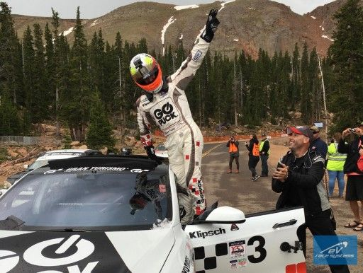 #READYSETGO #SWD #GREEN2STAY GO PUCK & eV Race Systems Combine Talent to Set New Pikes Peak Electric Vehicle Record  Posted: Jul 05, 2016 8:35 AM Blake Fuller with the help of the eV Race Systems team set a new Pike's Peak record in their GO PUCK Tesla Model S race car.