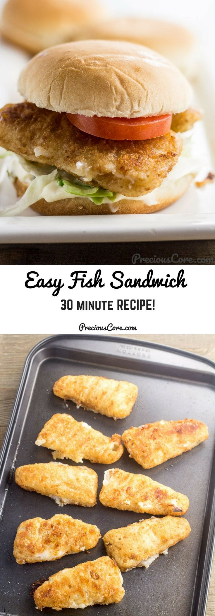 Easy fish sandwich which comes together in only about 30 minutes! Perfect for a quick weeknight meal. Get the easy recipe on Precious Core. #GortonsMealTime #TrustGortons #Ad