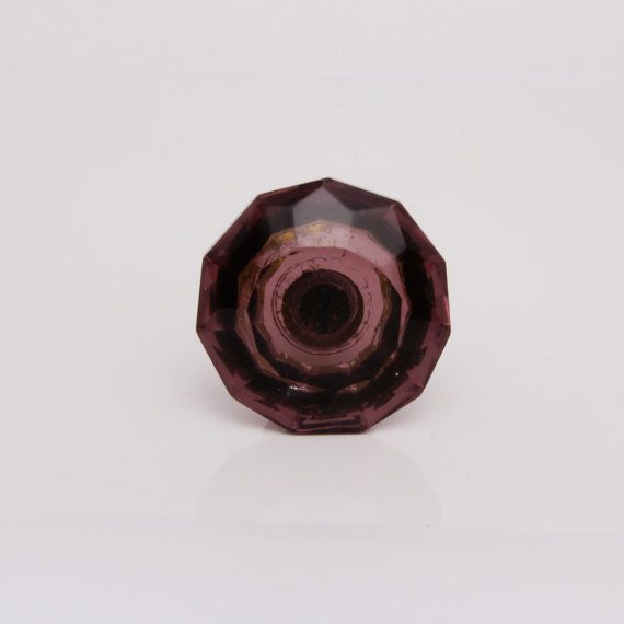 Cut Glass Classic Knob Purple by TrincaFerro on Etsy, £4.00