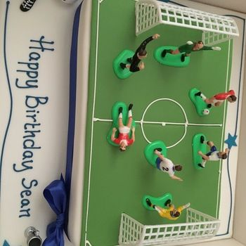 Football Pitch Cake Excellent