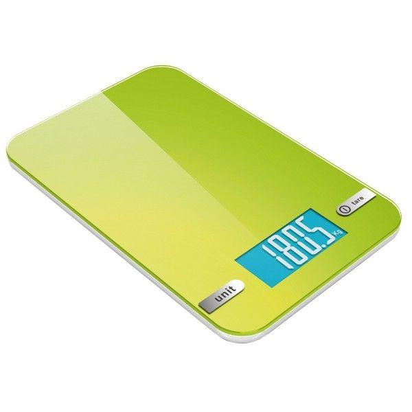 Digitale Slim Küchenwaage bis 5Kg/1g Haushaltwaage Feinwaage Briefwaage elektrische Waage Digital (Grün)