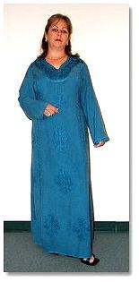 Blue Moon Kaftan Dress - pagan wiccan witchcraft magick ritual supplies