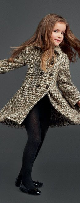 Dolce  Gabbana Kids  My girl would love this coat. So classy