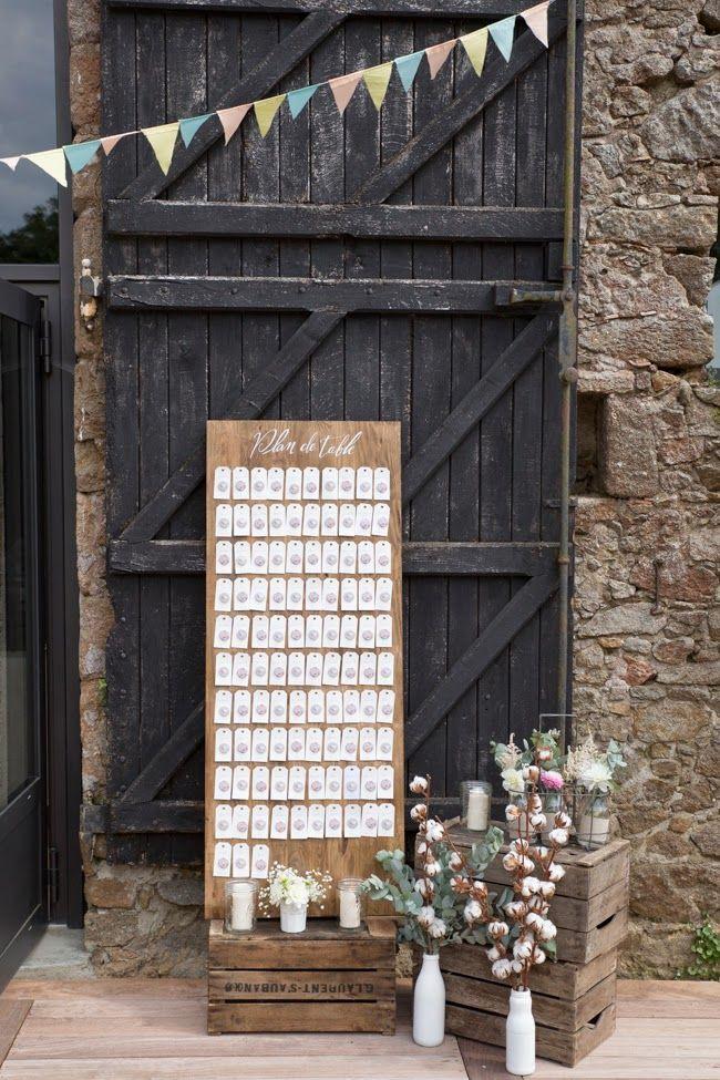 Un mariage à Légé par Monsieur+Madame (M+M). Champêtre, rose pâle et kraft en fil conducteur au sein d'une vieille grange. ©Cédric Dendoune www.monsieurplusmadame.fr