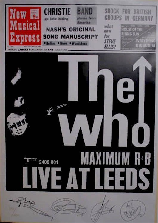 Live At Leeds by The Who was released in 16 May, 1970 and rapidly became one of the definitive live albums in rock history.
